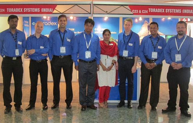 Toradex team at ESC Bengaluru, India 2012