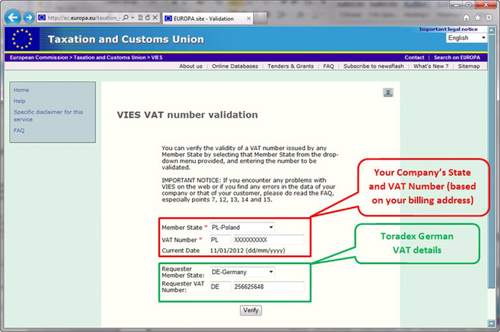 Check VAT Number and Company Information