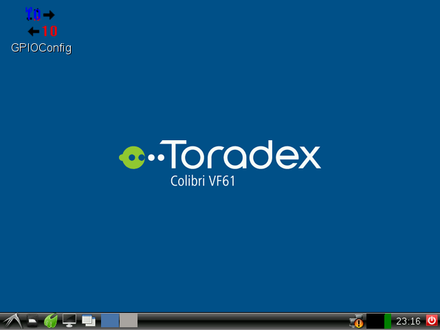 Toradex LXDE based Desktop