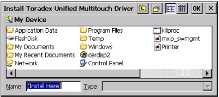 Unified multi-touch install