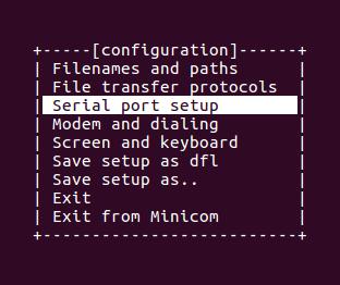 Serial terminal emulator configuration