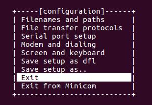 Serial terminal emulator configured
