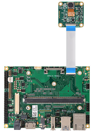 CSI camera module connected to the Ixora carrier board