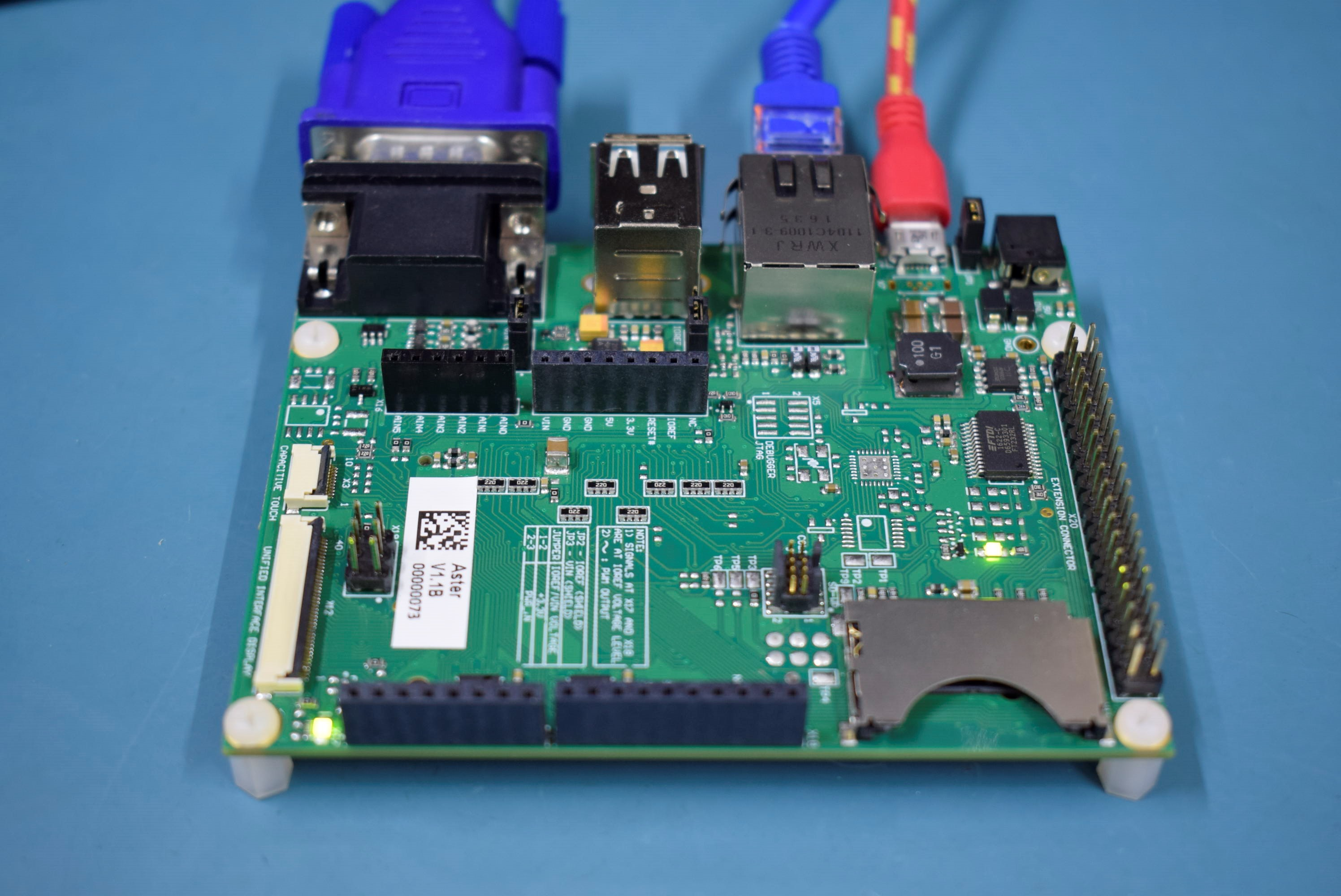 Aster Carrier Board connected