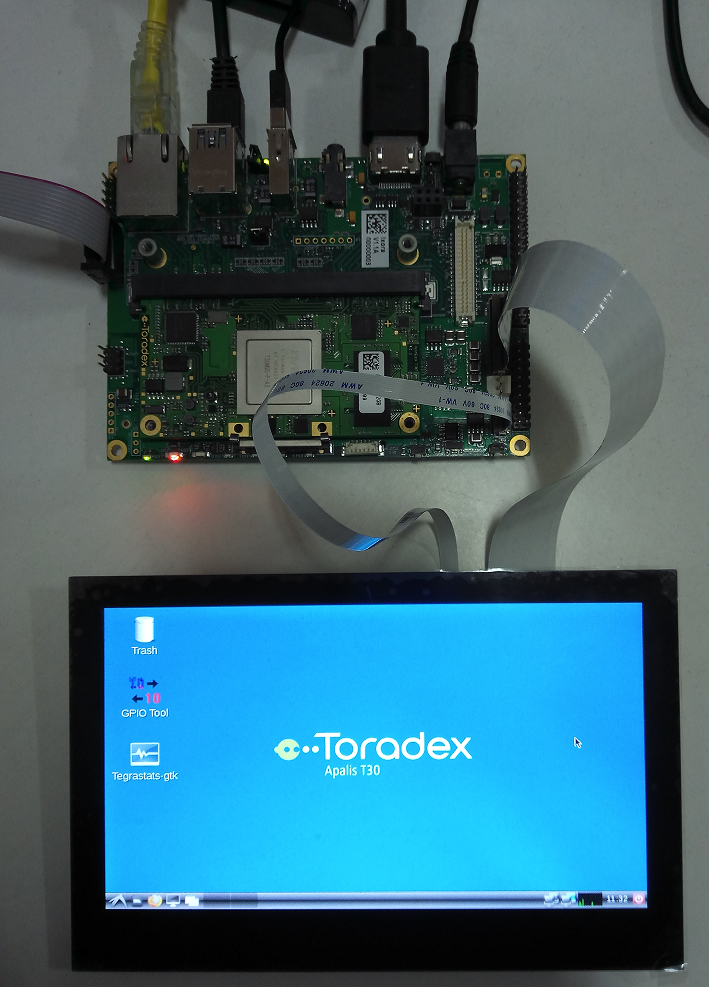 Working 7-inch Capacitive Touchscreen interfaced to the Apalis T30