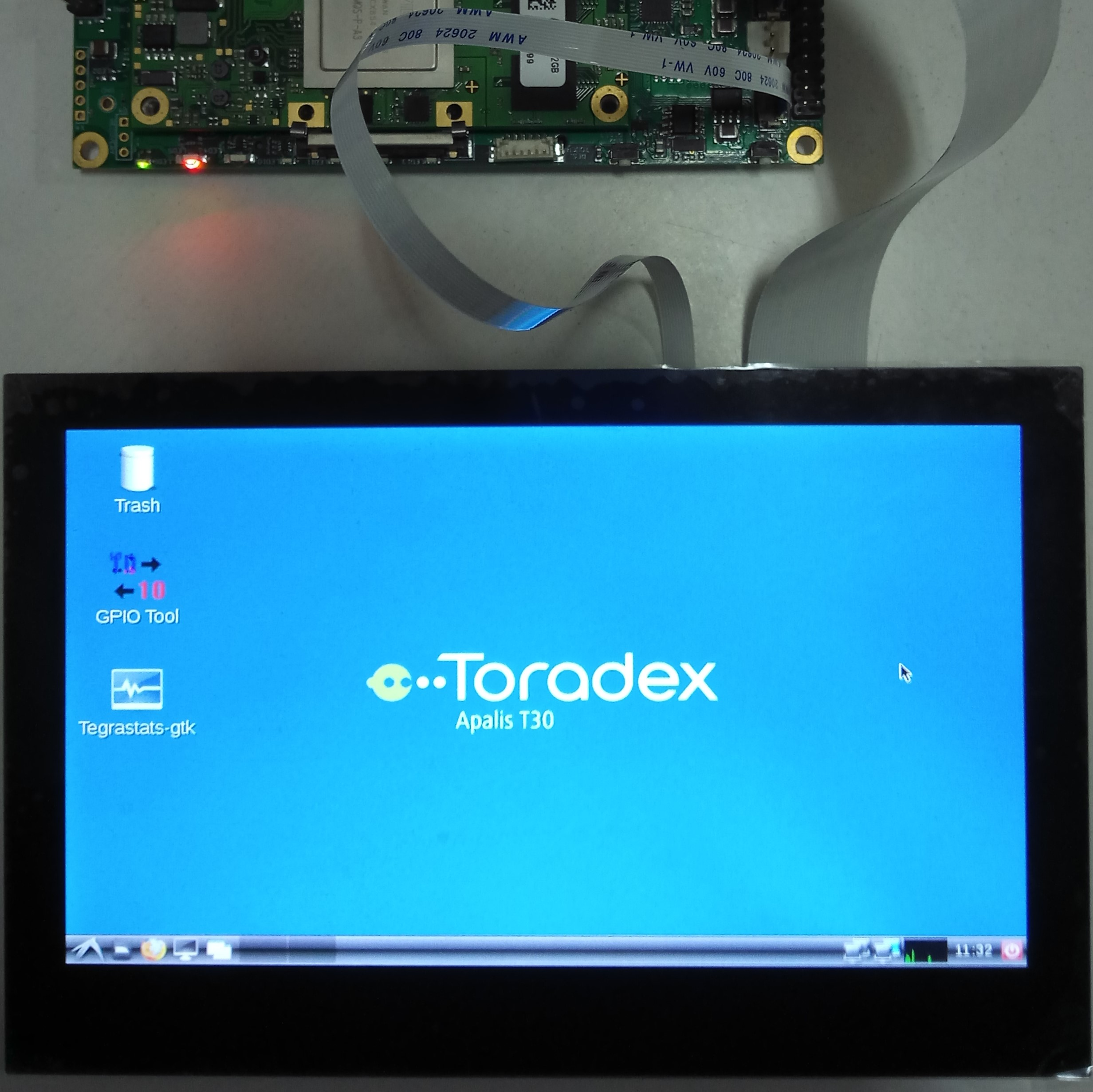 Working 7-inch Capacitive Touchscreen interfaced to Apalis T30