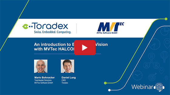 An introduction to Embedded Vision with MVTec HALCON