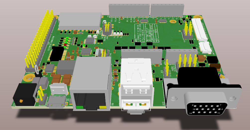 Toradex Carrier Board Illustration - Top View