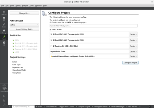 Configure project with Qt for Device Creation SDK