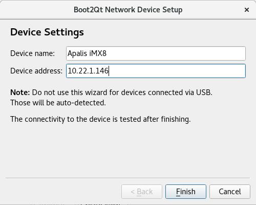 B2Qt device setup
