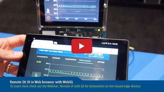 Qt WebGL Remote UI on Toradex Colibri iMX7