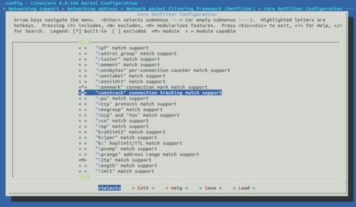 Core Netfilter Configuration