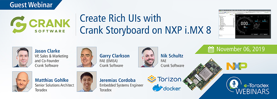 Create Rich UIs with Crank Storyboard on NXP i.MX 8