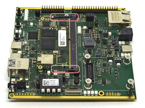 Computer on Module connected to the Dahlia Carrier Board