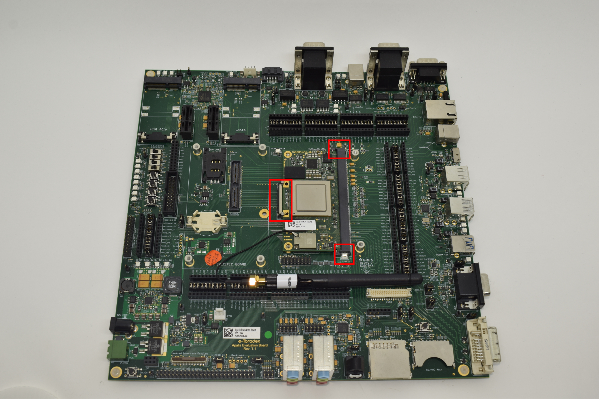 Computer on module connected to the Apalis Evaluation Board