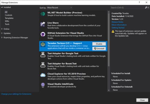 Torizon Extension for Visual Studio