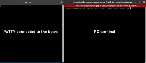 PuTTY and PC Terminals Side-by-side